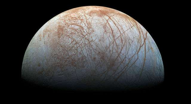 NASA research reveals Europa's mystery dark material could be sea salt