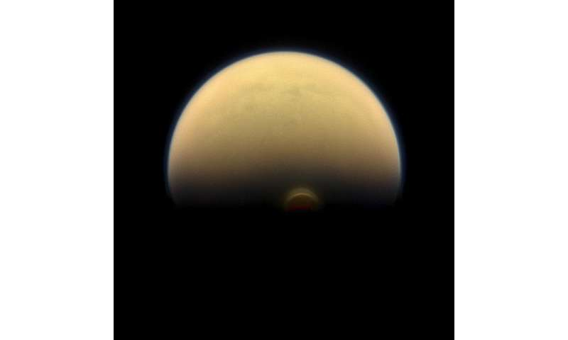 NASA's Cassini finds monstrous ice cloud in Titan's south polar region