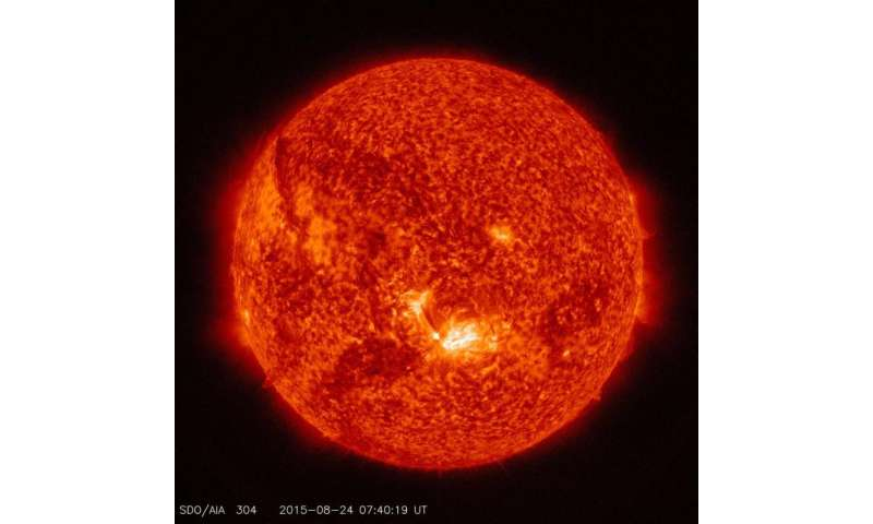 NASA SDO: Images of a mid-level solar flare