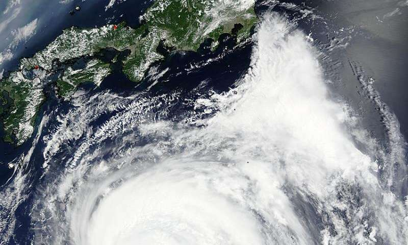 NASA sees a ragged eye in Typhoon Nangka