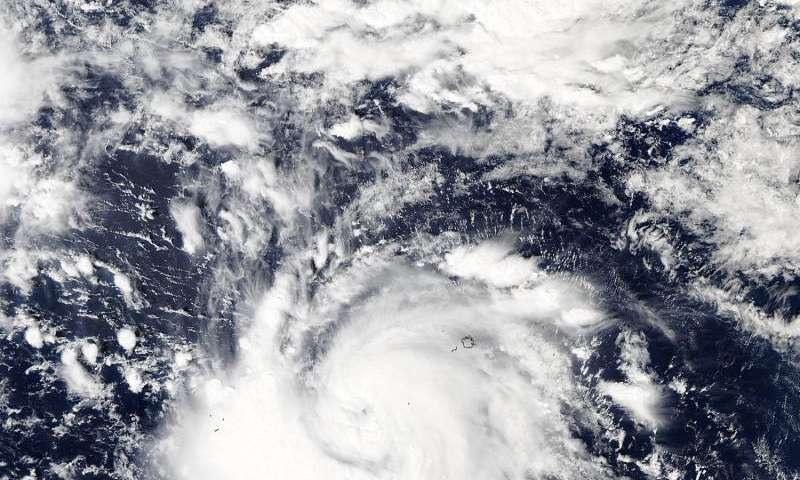 NASA sees In-fa become a Typhoon near Micronesia