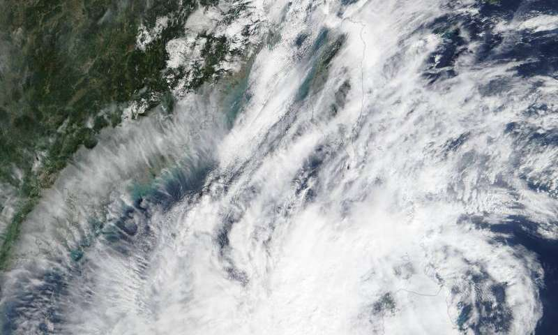 NASA sees Koppu moving across the Philippines