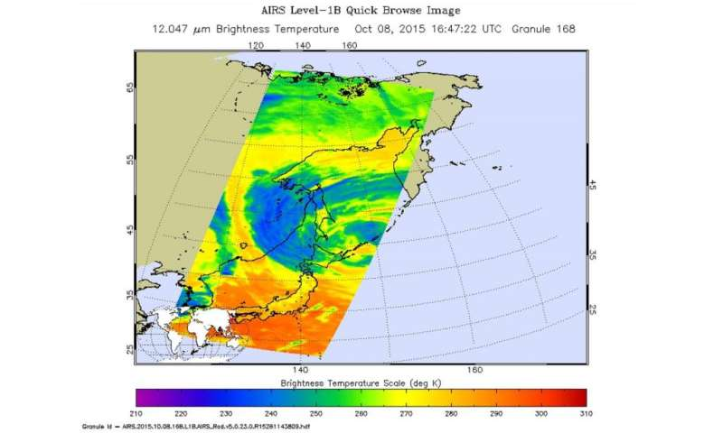 NASA sees remnants of Typhoon Choi-wan over southeastern Russia