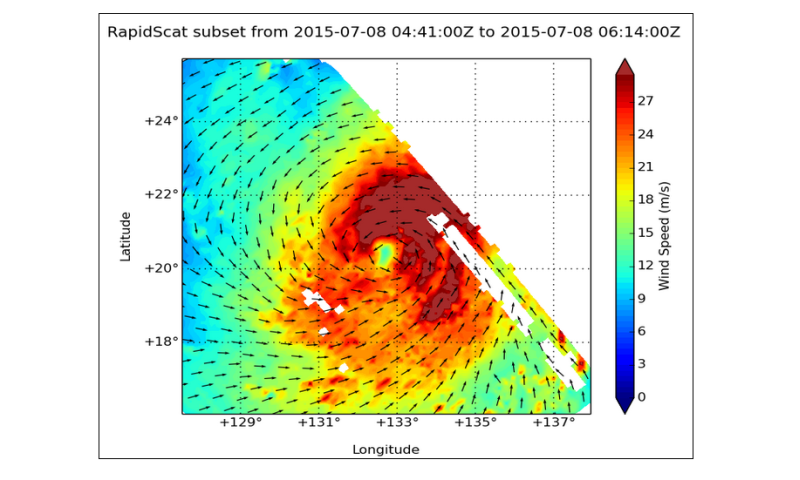 NASA sees Typhoon Chan-Hom's strongest winds in northern and eastern quadrants