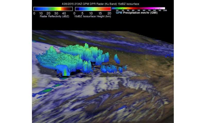 NASA sees weekend Texas severe storms in 3-D