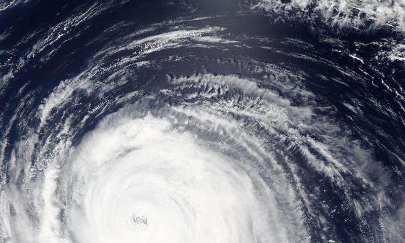 NASA sees wide-eyed Typhoon Atsani ready to curve