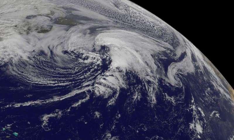 NASA spies Extra-Tropical Storm Kate racing through North Atlantic