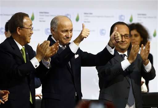 Nearly 200 nations pledge to slow global warming