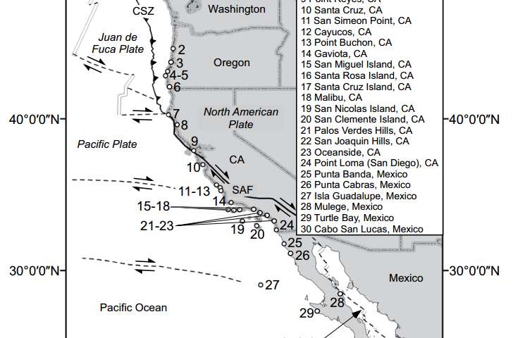 New data changes ideas about sea level and coastal uplift along Pacific Coast