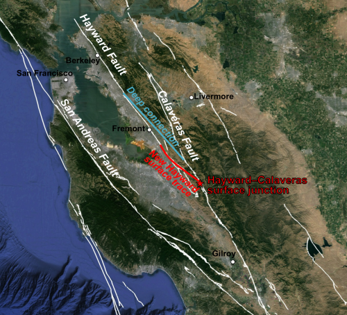 Newly discovered link between Calaveras, Hayward faults means potentially larger quakes