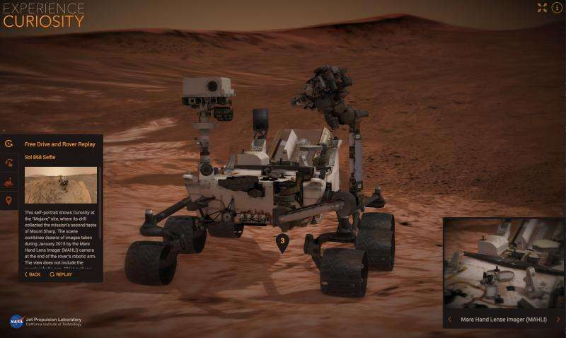 New online exploring tools bring NASA's journey to Mars to new generation