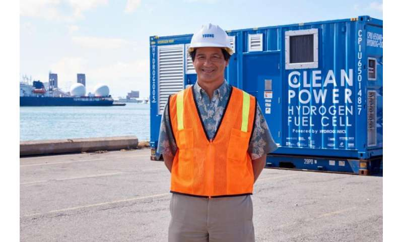 Nothing but water: Hydrogen fuel cell unit to provide renewable power to Honolulu port