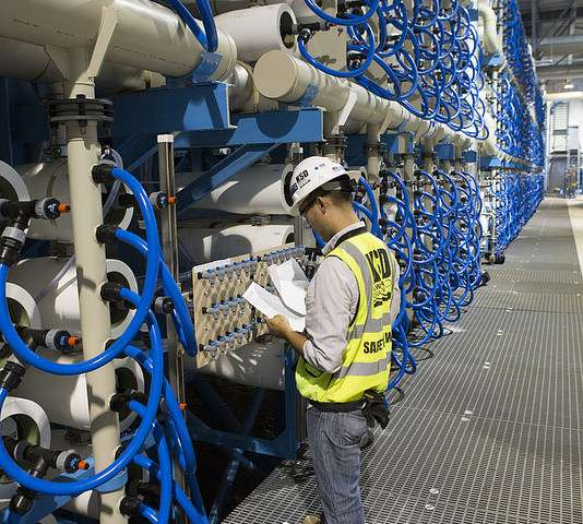 Ocean desalination plant  capable of fresh water daily