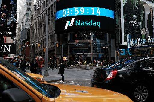 On April 23, 2015, the Nasdaq Composite Index finished at a new closing high, 5,056.06, topping the previous mark set on March 1