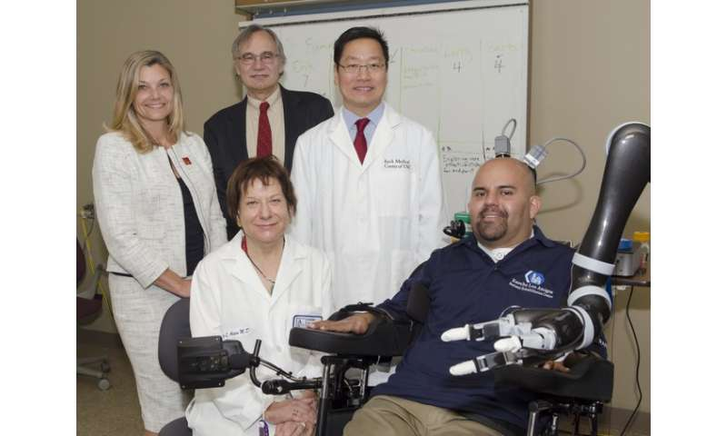 Paralysed patient makes natural movements using robotics and the power of thought