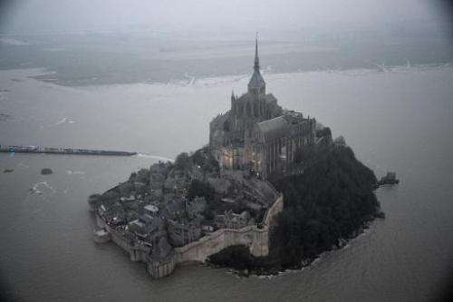 Perched on a rocky island, Mont-Saint-Michel on France's northern coast is exposed to some of Europe's strongest tides