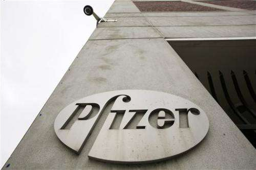 Pfizer net down on lower sales, higher research, legal costs