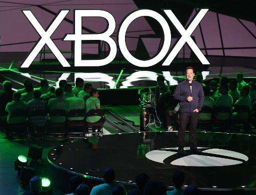 Phil Spencer, head of Microsoft's Xbox division addresses the media before the opening day of the Electronic Entertainment Expo
