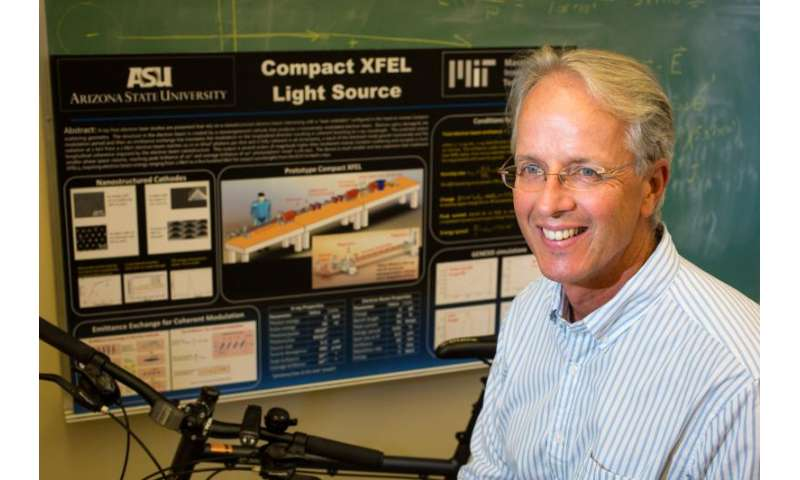 Physicist shrinking electron-laser technology