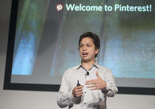 Pinterest CEO Ben Silbermann speaks at the company's corporate headquarters in San Francisco, California on April 24, 2014