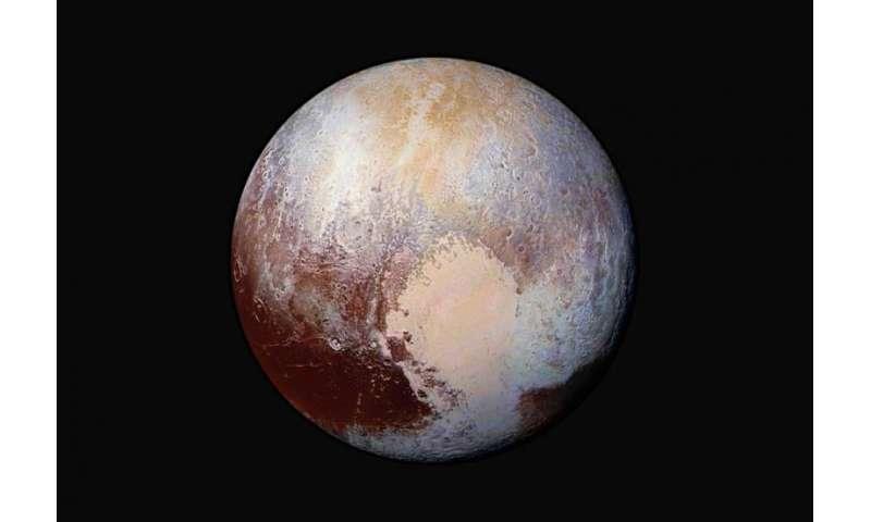 Pluto Dazzles in False Color
