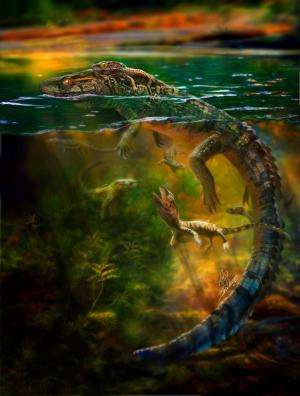 Preserved fossil represents oldest record of parental care in group of prehistoric reptiles