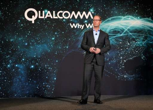 Qualcomm President Derek Aberle speaks at the International CES, an annual consumer technology trade show, on January 5, 2015 in