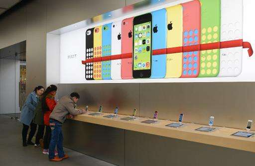 """Apple soared 40 percent annually... Apple's new iPhone 6 portfolio is flying off the shelves in China and the United State"