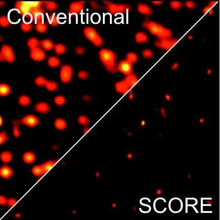 Random light scattering enhances the resolution of wide-field optical microscope images