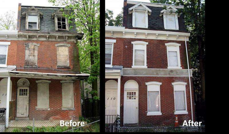 Remediating abandoned, inner city buildings reduces crime and violence in surrounding area