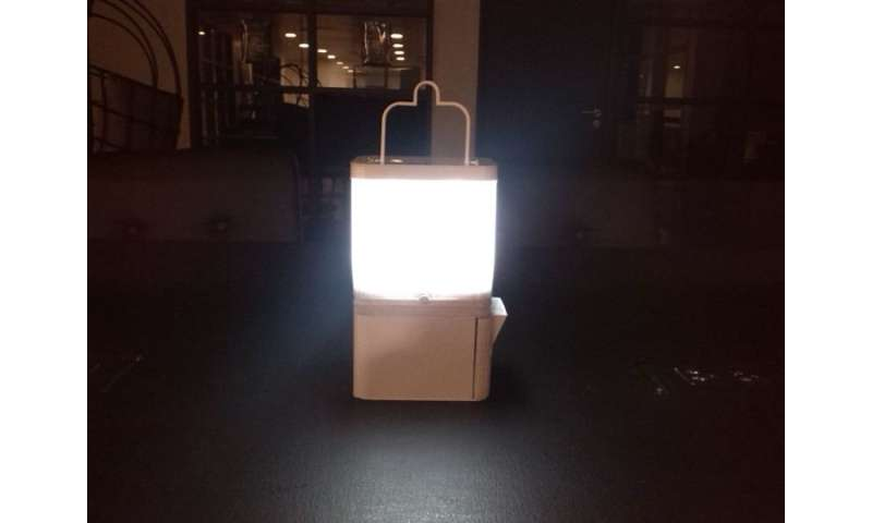 Salt water for lamp designed to serve people without electricity