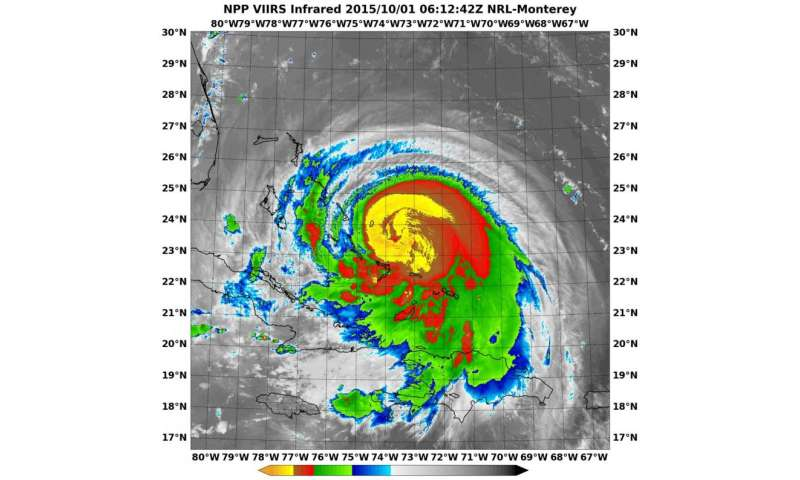Satellites show Joaquin becoming a Category 4 hurricane
