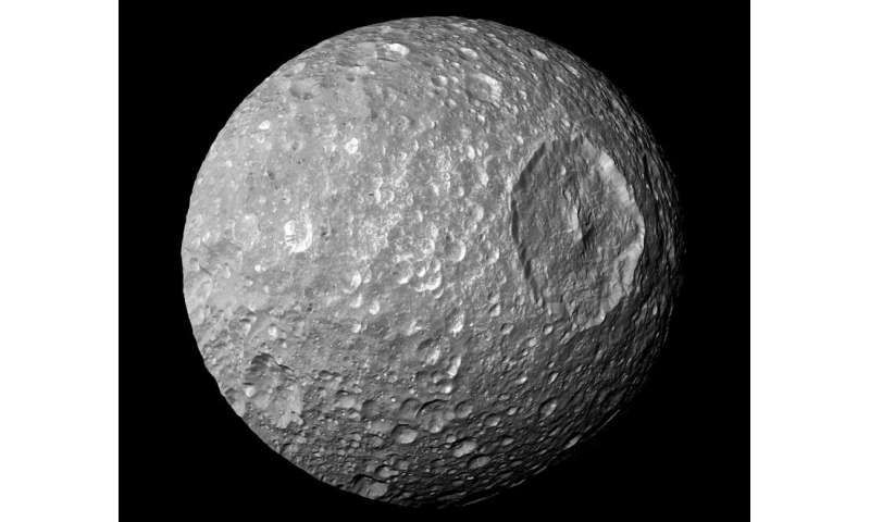 "Saturn's ""Death Star"" moon Mimas"