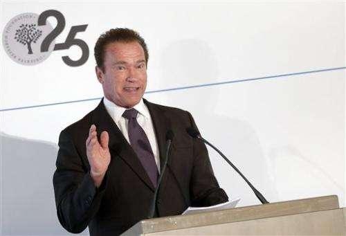 Schwarzenegger calls for more effort to fight climate change
