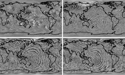 Scientists simulate gravity waves propagating toward space