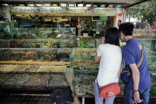 Seafood is ubiquitous in Hong Kong, where customers often choose their fish live from a tank