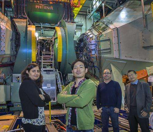 Searching for signs of a force from the 'dark side' in particle collisions at RHIC