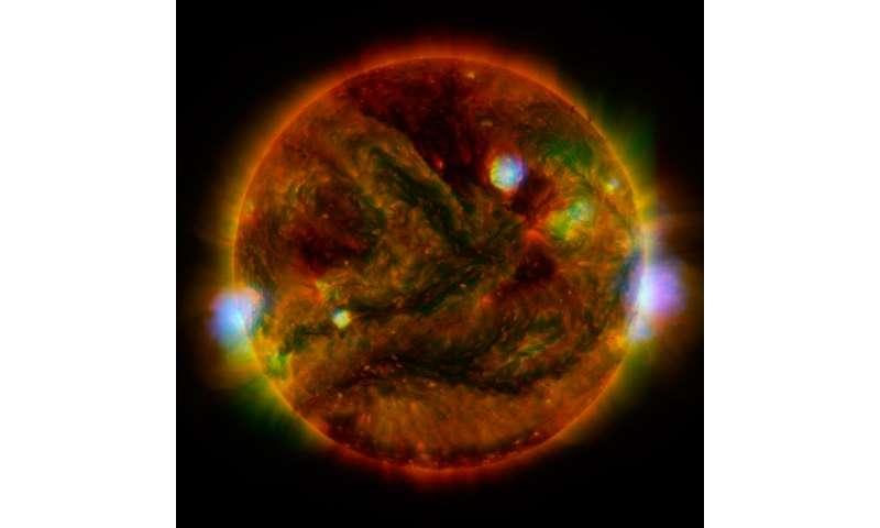 Searing sun seen in X-rays