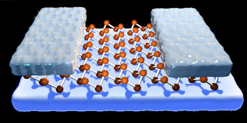Semiconductor miniaturisation with 2D nanolattices