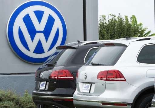 Shares in Volkswagen have tumbled on evidence that the massive pollution cheating scandal engulfing the company could be even wi
