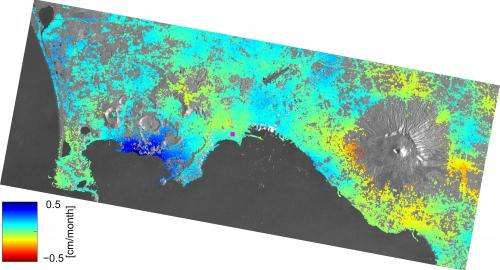 Slight surface movements on the radar