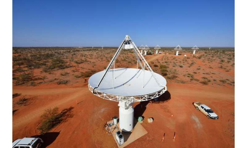 Small cosmic 'fish' points to big haul for SKA Pathfinder