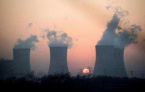 Smoke rises from a power plant near Hengshui in China's Hebei province on December 22, 2014