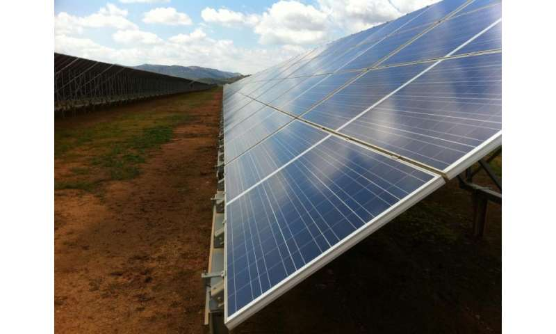 Solar energy's land-use impact