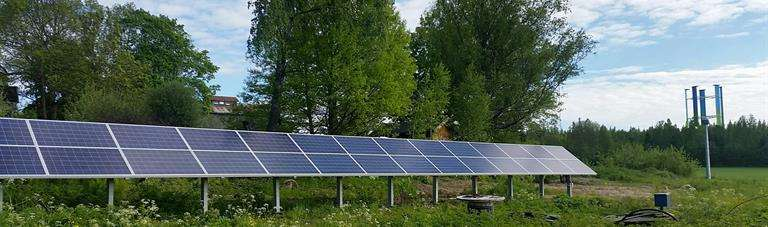 Solar heating combined with a ground heat pump is a cost-efficient, ecological solution