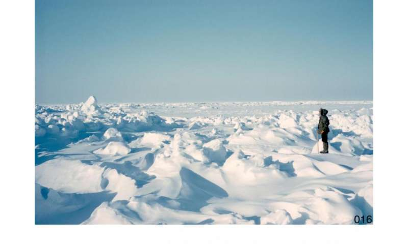 Solving the problem of sea ice thickness distribution using molecular concepts