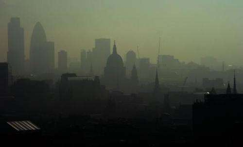 St. Paul's Cathedral in London seen through smog during an earlier wave of pollution on April 22, 2011