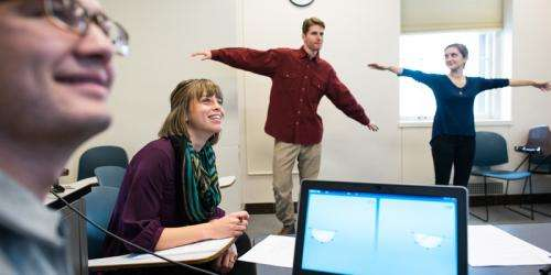 Students master math through movement using Kinect for Windows