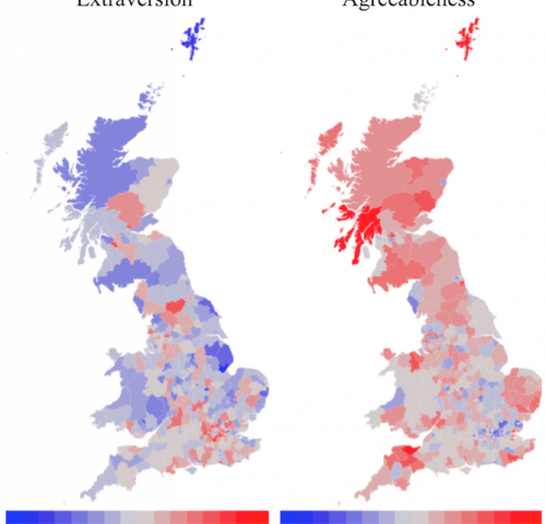 Study finds vast regional differences in personality within the UK
