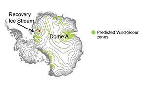 Study sees powerful winds carving away Antarctic snow